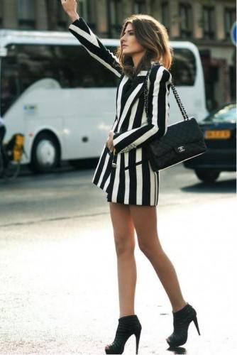 rihe,bianco e nero,striped,street style