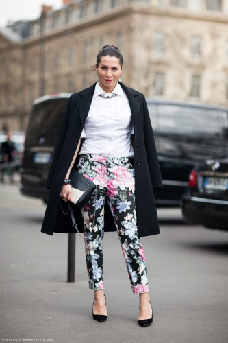 floral pants,olivia palermo