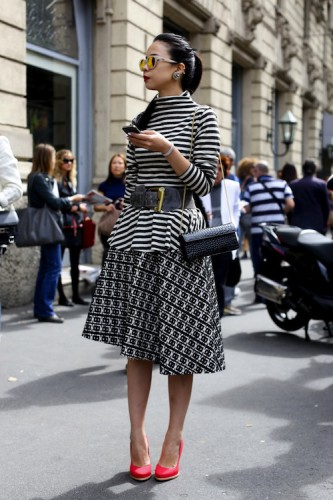 giovanna battaglia,dress,fashion editor,mfw