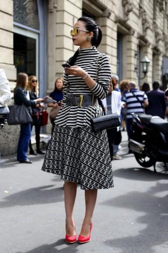 giovanna battaglia,dress,fashion editor,mfw